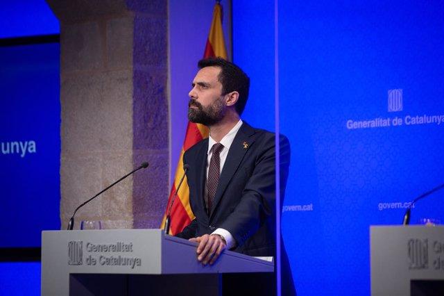 Archivo - Arxivo - El conseller d'empresa i Treball de la Generalitat, Roger Torrent