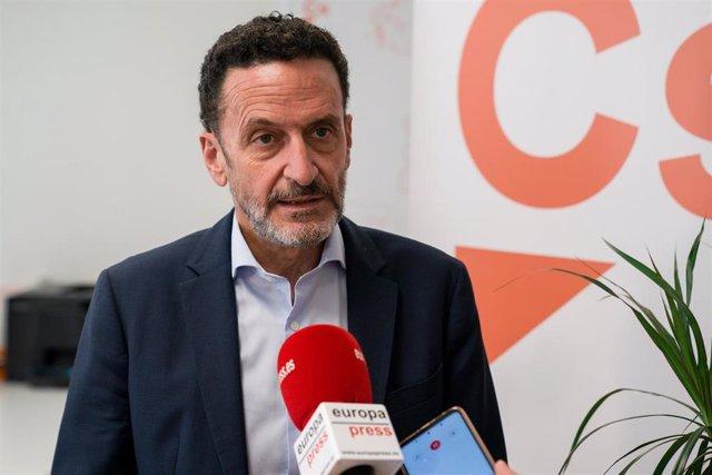 Edmundo Bal, portavoz adjunto de Ciudadanos, en declaraciones a Europa Press