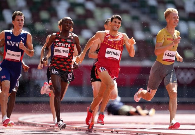 El atleta español Adel Mechaal en los Juegos Olímpicos de Tokyo 2020.
