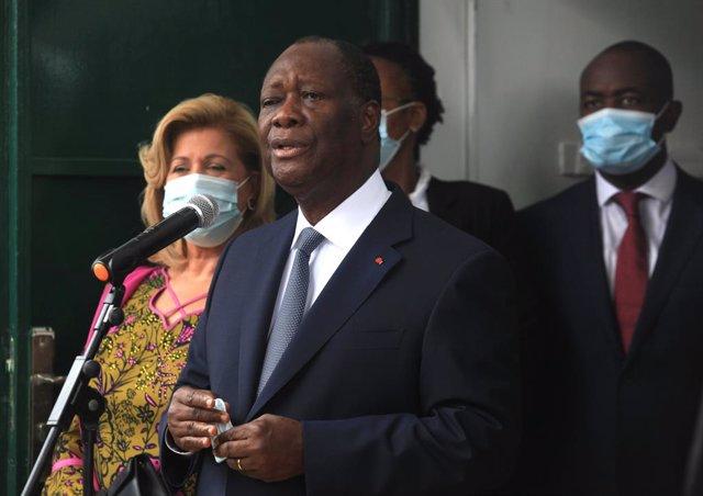 Archivo - Arxivo - El president de la Costa d'Ivori, Alassane Ouattara