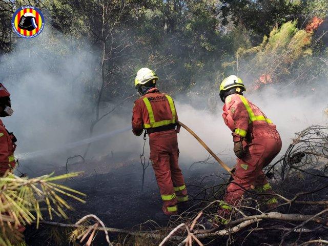 Incendio Forestal en Rafelguaraf