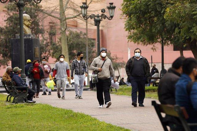 Archivo - Lima, en Perú,  durante la pandemia de coronavirus