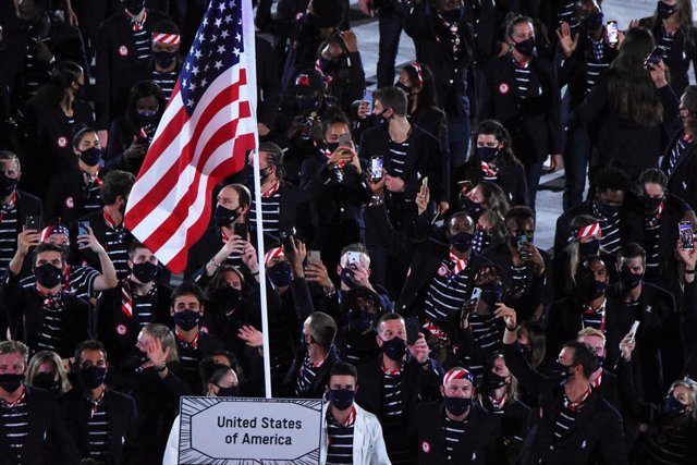 USA team during the Olympic Games Tokyo 2020 Opening Ceremony, on July 23, 2021 at Tokyo stadium in Tokyo, Japan - Photo Yoann Cambefort / Marti Media / DPPI