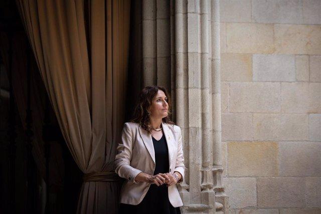 La consellera de Presidencia, Laura Vilagrà, en una entrevista de Europa Press.