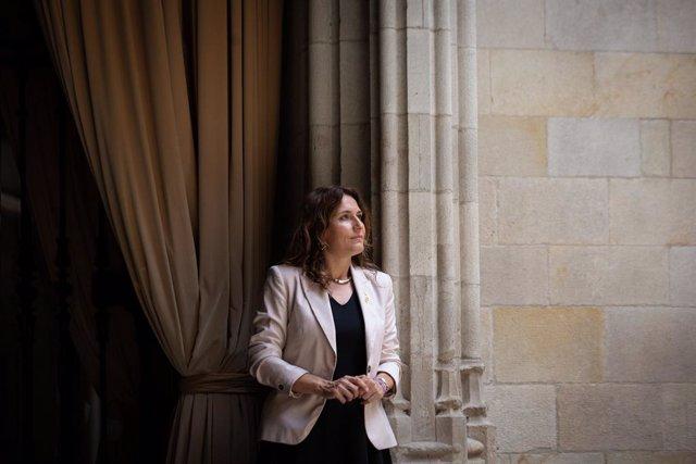 La consellera de Presidència, Laura Vilagrà, en una entrevista d'Europa Press.
