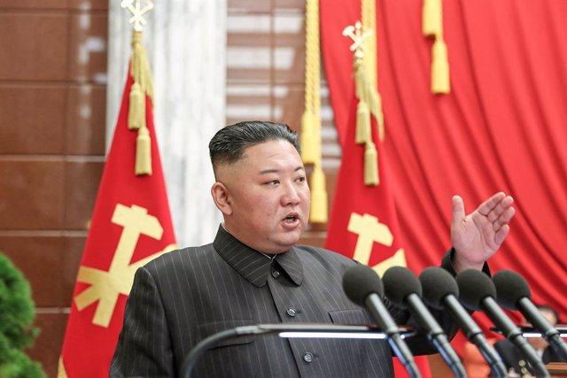 Archivo - Kim Jong Un, lider de Corea del Norte.