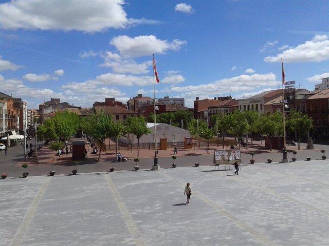 Archivo - Plaza Mayor de Medina del Campo (Valladolid)