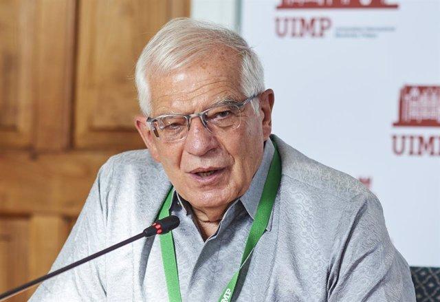 L'Alt Representant de la Unió per a Afers exteriors i Política de Seguretat, Josep Borrell, intervé en un curs sobre geopolítica europea organitzat a la Universitat Internacional Menéndez Pelayo,