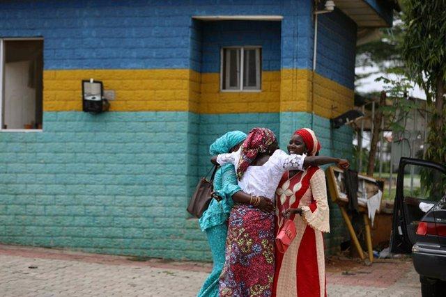 Archivo - Niñas liberadas de Chibok