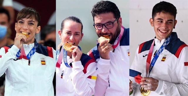 Sandra Sánchez, Fátima Gálvez y Alberto Fernández y Alberto Ginés