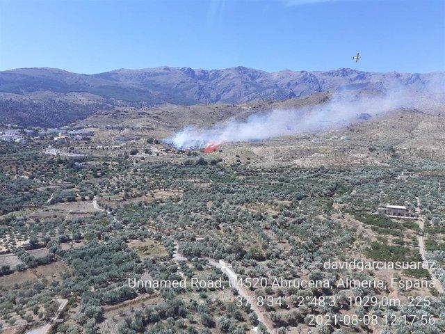 Incendio forestal en Abrucena.