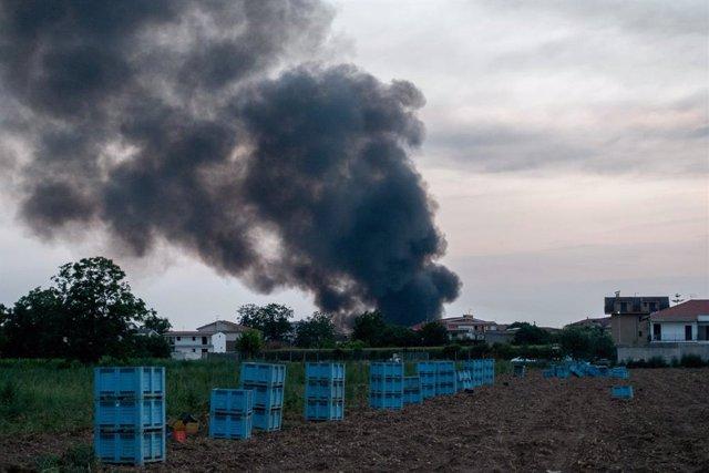 Incendio en Caserta, en el sur de Italia (imagen de archivo).