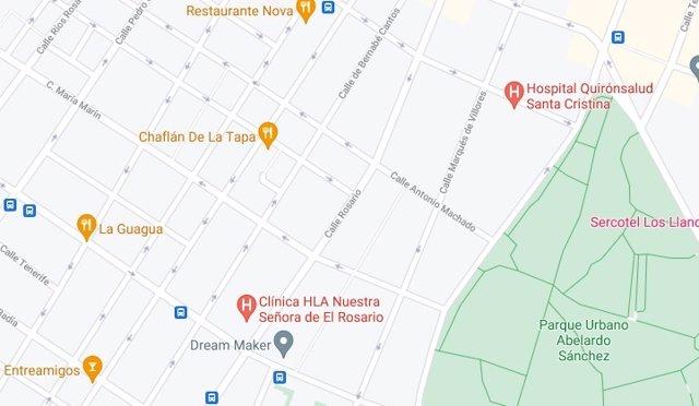 Archivo - Imagen de la calle Rosario de Albacete en Google Maps
