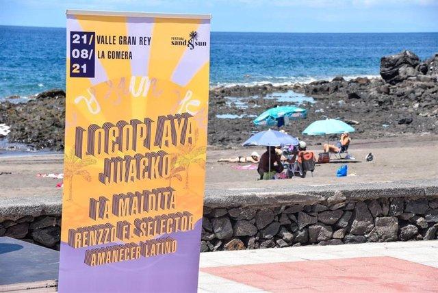Cartel del evento Sand&Sun 2021 en el Valle del Gran Rey (La Gomera)