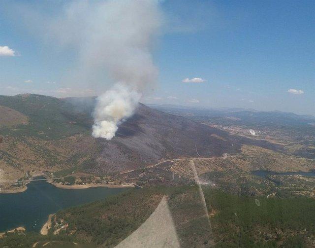 Incendio forestal en El Tiemblo y Cebreros.