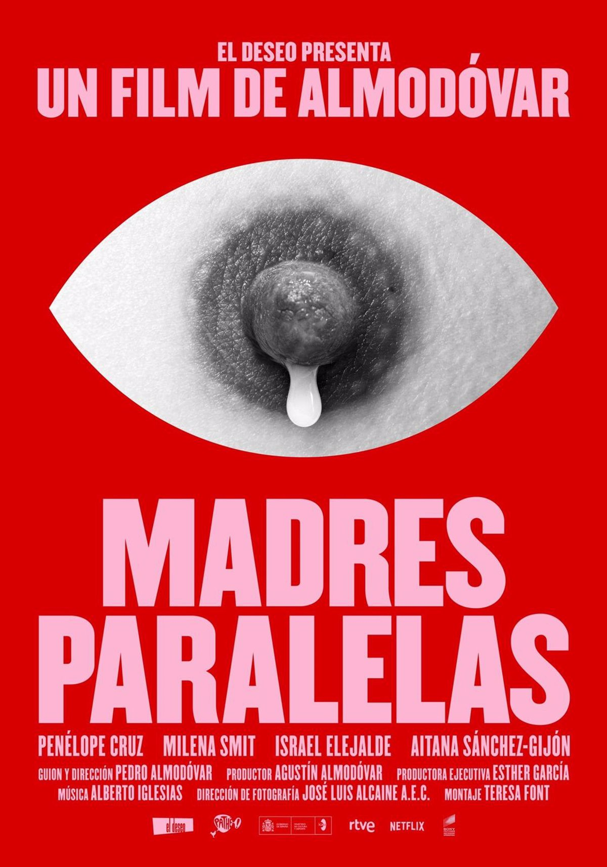 The first poster of 'Parallel Mothers' by Almodóvar is presented, which will premiere in Spain on September 10