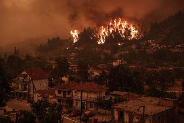 Incendis forestals a Grècia.