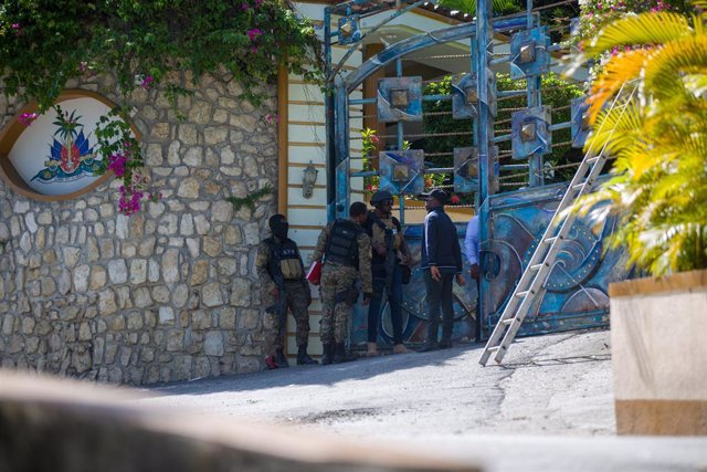 Archivo - Entrada de la residencia del presidente de Haití, Jovenel Moise