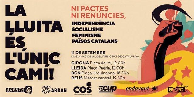 Cartell de la manifestació de l'esquerra independentista per la Diada 2021