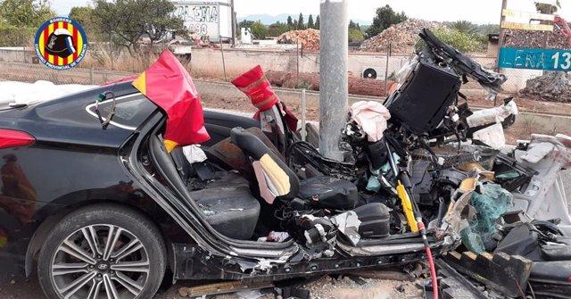 Accidente de tráfico en la Cv35