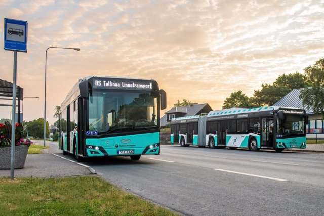 Autobus de Solaris para Tallin (Estonia)