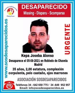 Buscan a un hombre desaparecido en Robledo de Chavela.