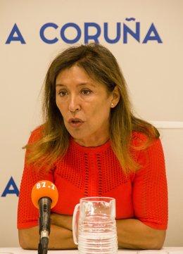 Archivo - Rueda de prensa de la concejala del PP Beatriz Mato