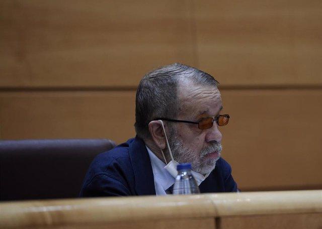 Archivo - El Defensor del Pueblo en funciones y Adjunto Primero, Francisco Miguel Fernández Marugán, interviene en la Comisión Mixta de Relaciones en el Senado, a 25 de mayo de 2021, en Madrid, (España).