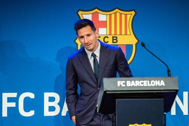 Roda de premsa de comiat de Messi