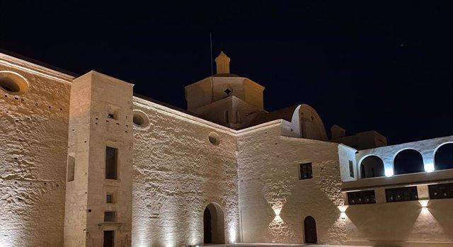 Imagen nocturna de archivo de Trigueros (Huelva).