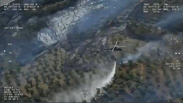 Incendio en Perales del Puerto (Cáceres)