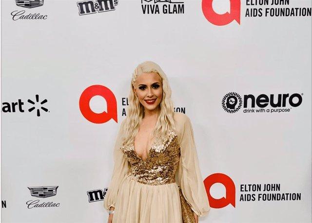La Actriz Tracy Ann Hoyos Lopez en una gala en USA