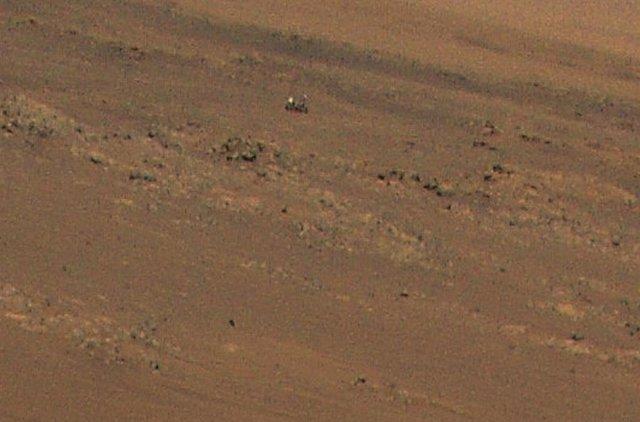 Ingenuity capturó el rover Perseverance en una imagen tomada durante su undécimo vuelo a Marte el 4 de agosto.