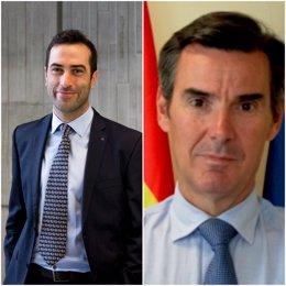 Carlos Cuerpo, nuevo secretario general del Tesoro y Financiación Internacional y Carlos San Basilio, nuevo director Ejecutivo de Estrategia Corporativa del Banco Europeo de Recostrucción y Desarrollo (BERD)