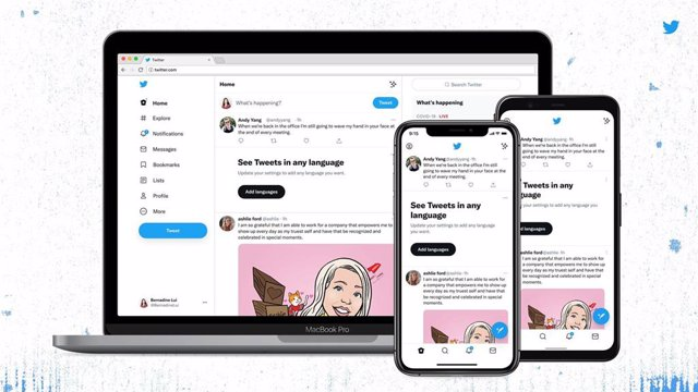 Nuevos diseño de Twitter con fuente Chirp.
