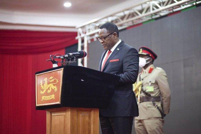 Archivo - El presidente de Malaui, Lazarus Chakwera