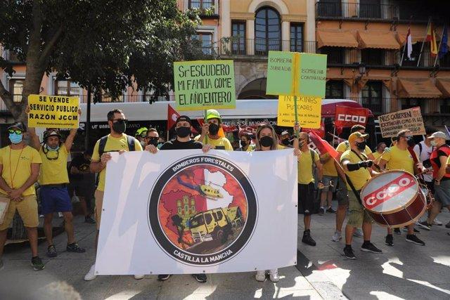 Manifestación de trabajadores de Geacam convocada por CCOO