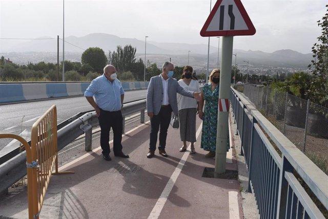 Obras en la carretera de La Zubia