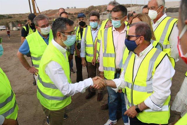 El ministre de la Presidència, Relacions amb les Corts i Memòria Democràtica, Félix Bolaños , visita  les obres de la Línia Alta Velocitat Almeria-Múrcia aquest divendres.