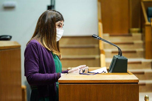 Archivo - La portavoz del grupo Elkarrekin Podemos en el Parlamento vasco, Miren Gorrotxategi