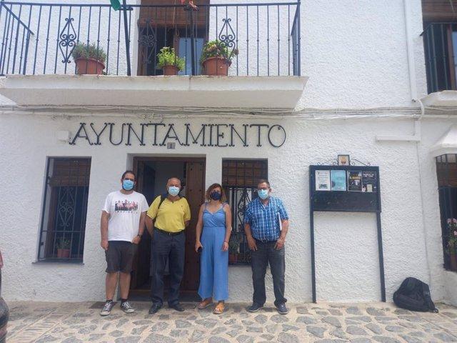 Visita de la Diputación de Granada al Ayuntamiento de Bubión