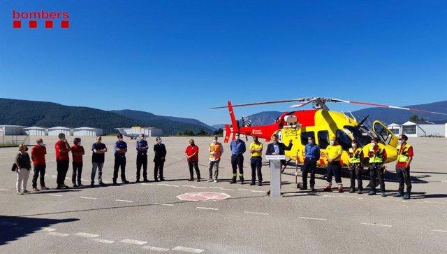 Archivo - Presentación de un helicóptero de rescate de Bombers de la Generalitat (Archivo)
