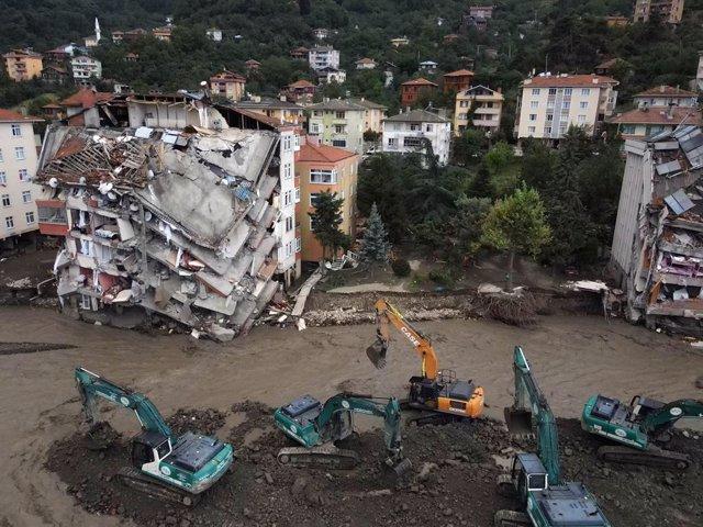 Área afectada por las inundaciones en Turquía