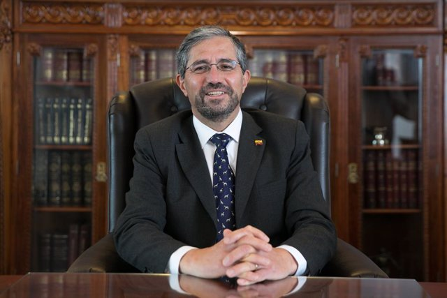 Archivo - Mauricio Montalvo, ministro de Exteriores de Ecuador