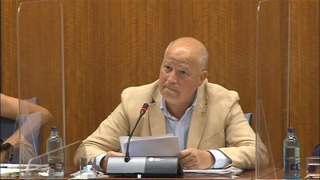 Archivo - El consejero de Educación y Deporte de la Junta de Andalucía, Javier Imbroda, en el Parlamento, en imagen de archivo