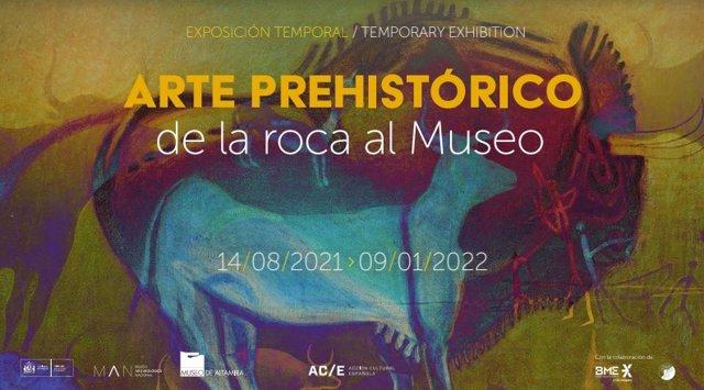 Cartel de la exposición 'Arte prehistórico, de la roca al Museo',