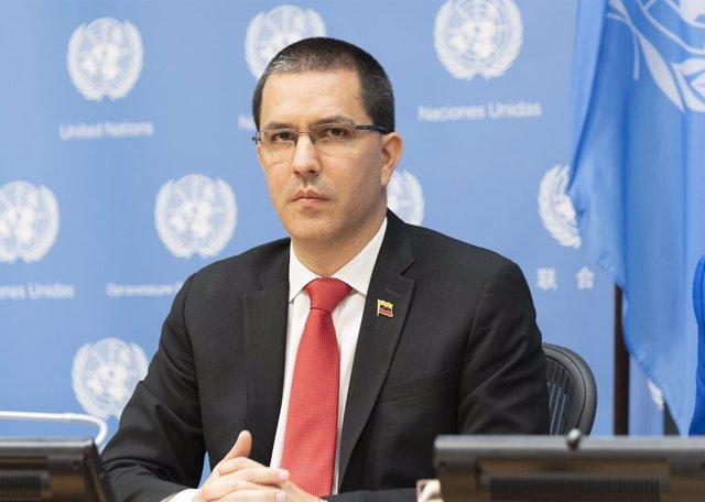 Archivo - El ministro de Asuntos Exteriores de Venezuela, Jorge Arreaza