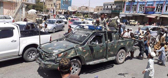 Los talibán en la ciudad de Kandahar
