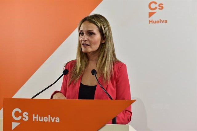 La coordinadora de Cs en Huelva, María Ponce.