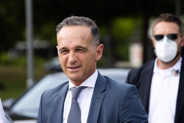 13 August 2021, Baden-Wuerttemberg, Denzlingen: German Foreign Minister Heiko Maas comments on the Federal Government's further course of action with regard to the German Embassy in Kabul. As a consequence of the advance of the radical Islamist Taliban gr